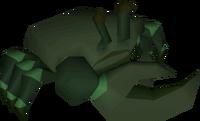 Raw dark crab detail
