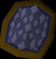 Blue d'hide shield detail