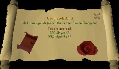 Lesser Demon Champion reward