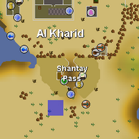 Hot cold clue - Shantay Pass map