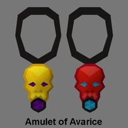 Amulet of avarice work-in-progress