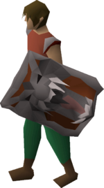 Dragonfire shield (uncharged) equipped