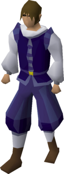 Blue elegant clothing (male) equipped