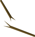 Broken pole detail