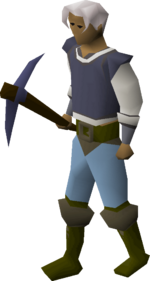 Mithril pickaxe equipped