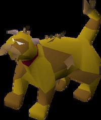 Lazy cat (brown) pet