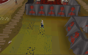 Hot cold clue - southeast of the Combat ring