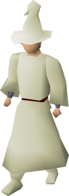 Cream robes equipped
