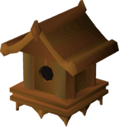 Maple bird house detail