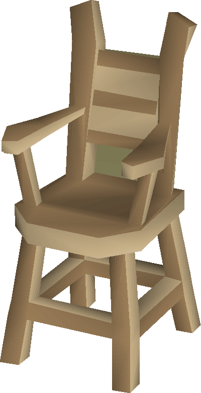 Oak chair built