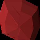 Uncut ruby detail