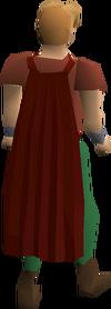 Fremennik red cloak equipped