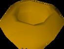 Unfinished bowl (worm hole) detail