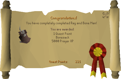 Rag and Bone Man II reward scroll (bonesack)