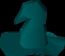 Teal hat detail