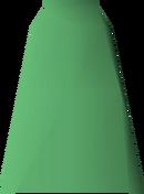 Green robe bottoms detail