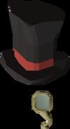 Top hat & monocle detail