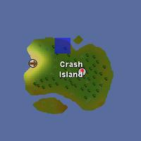 Hot cold clue - Crash Island map