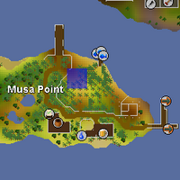 Hot cold clue - Musa Point map