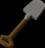 Large spade detail
