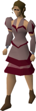 Red elegant clothing (female) equipped