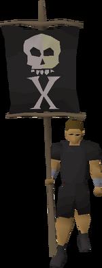 Treasure flag equipped