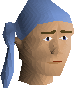 Pirate bandana (blue) chathead
