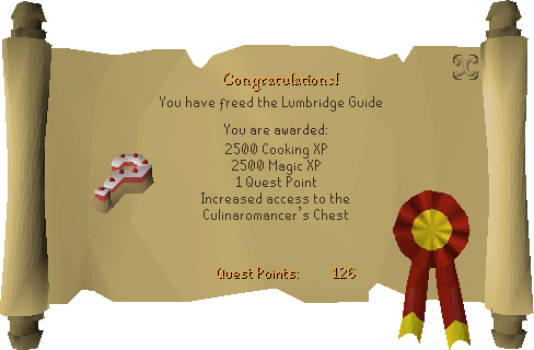 Recipe for Disaster (Freeing the Lumbridge Guide) reward scroll