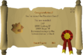 Recipe for Disaster (Freeing the Mountain Dwarf) reward scroll.png
