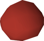 Stone ball (red) detail