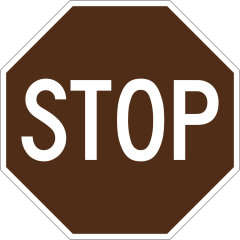 File:Brown stop sign.png