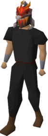 Magma helm (uncharged) equipped