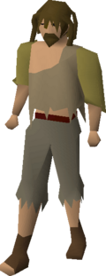 Poor looking man