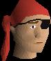 Bandana eyepatch (red) chathead