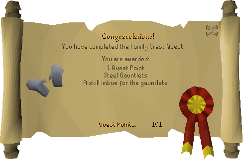 Family Crest reward scroll