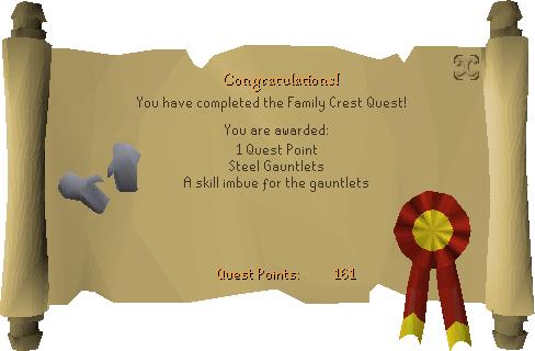 Family Crest reward scroll