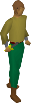 Iron dagger equipped