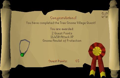Tree Gnome Village reward scroll