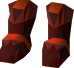 Zamorak d'hide boots detail