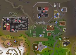 Burthorpe map