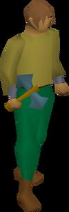 Rune thrownaxe equipped