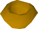 Unfinished bowl (veg ball) detail