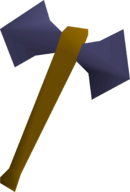 Mithril battleaxe detail