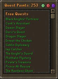 Quest tab
