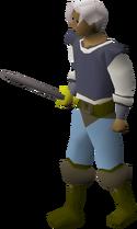 Steel longsword equipped