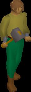 Iron warhammer equipped