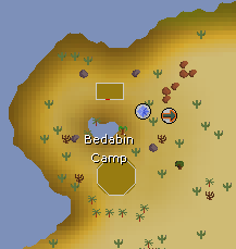 Bedabin Camp map