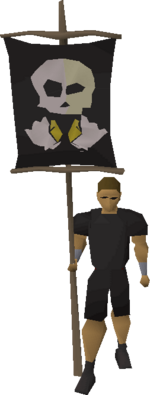 Bronze fist flag equipped