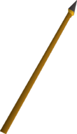 Gilded spear detail