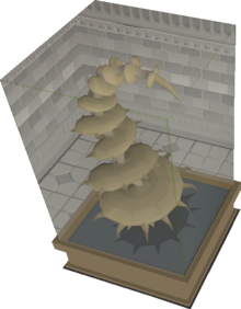 Petrified Spine Plant display